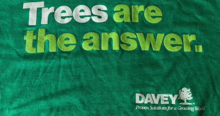 "Win a ""Trees Are The Answer"" t-shirt from Davey Tree"