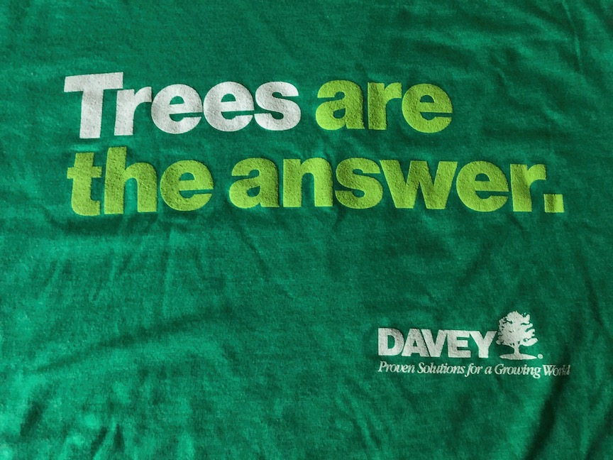 """Win a """"Trees Are The Answer"""" t-shirt from Davey Tree"""